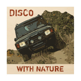 DISCOVERY - DISCO WITH NATURE WOOD PRINT