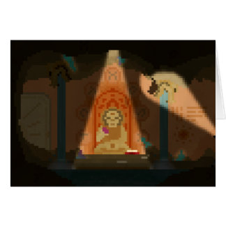 Discovery in the Cave Pixel Art Greeting Card