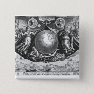 Discovery of America 15 Cm Square Badge