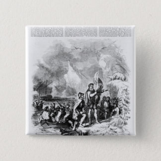 Discovery of America by John and Sebastian 15 Cm Square Badge