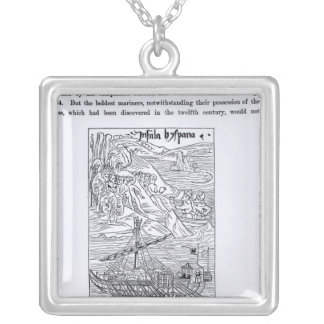 Discovery of San Domingo Silver Plated Necklace