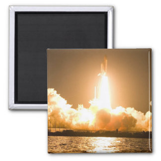 Discovery Space Shuttle Liftoff Square Magnet