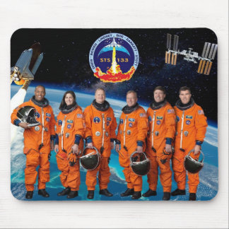 DISCOVERY STS 133 CREW MOUSE PADS