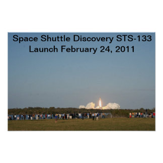 Discovery's Launch STS-133 Print