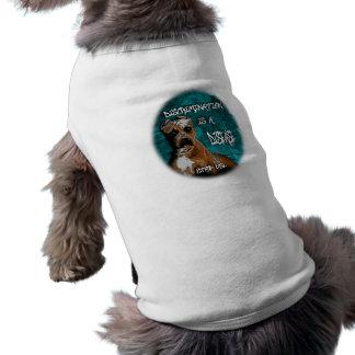 Discrimination is a Disease, Pitbull Anti BSL Sleeveless Dog Shirt