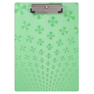 Discs on Mint Green Clipboard