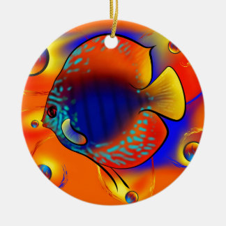 Discuremia V1 - abstract digital artwork Christmas Ornament