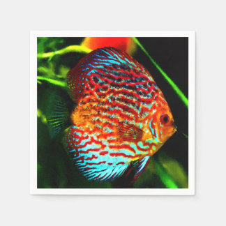 Discus fish design luxury paper napkins