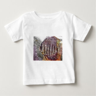 Discus Fish Sketch Baby T-Shirt