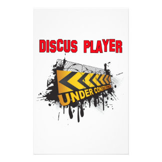 Discus Player Under Construction Stationery Paper