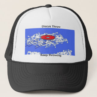 Discus throw trucker hat