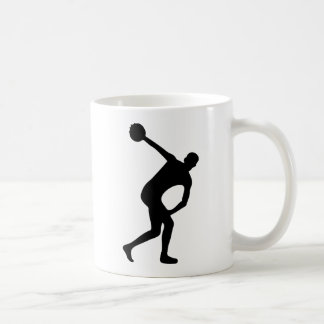 discus thrower coffee mug