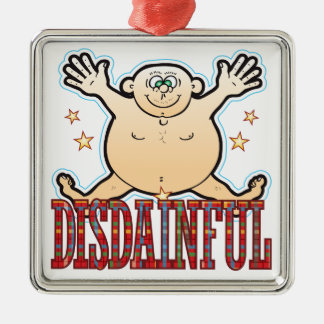 Disdainful Fat Man Christmas Ornament