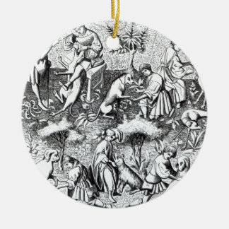 Diseases of dogs and their cure, after a miniature round ceramic decoration