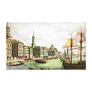 Disembarking of the English Troops Canvas Print