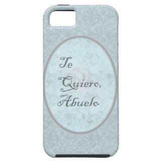 diseño elegante felicitación abuelo iPhone 5 funda