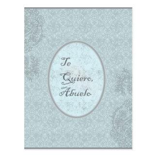 diseño elegante felicitación abuelo postal