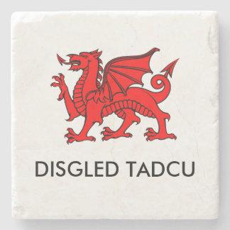 Disgled Tadcu: Grandad's Cuppa South Welsh Coaster Stone Beverage Coaster