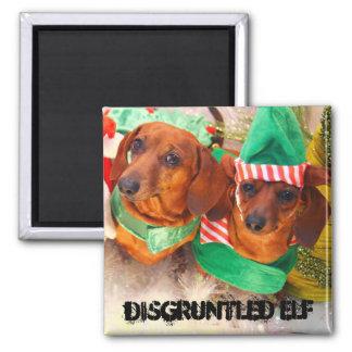 Disgruntled Elf Dog Magnet