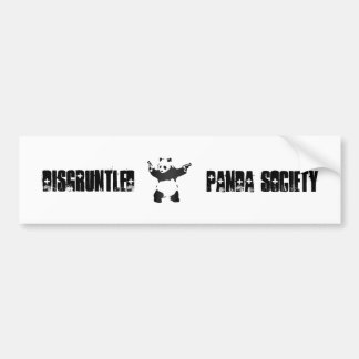 Disgruntled Panda Society Bumper Sticker