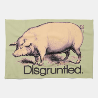 Disgruntled Pig Tea Towel