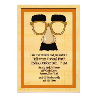 Disguise Halloween Party Invitation