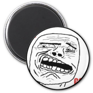 Disgusted Oh God Comic Face 6 Cm Round Magnet