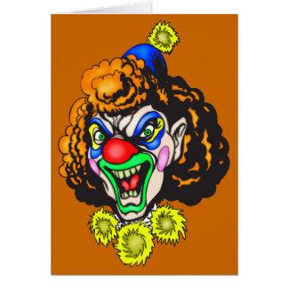Disgusting Evil Clown Card