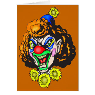 Disgusting Evil Clown Greeting Card