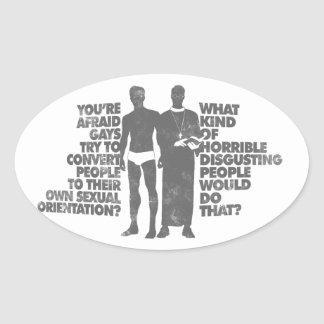 Disgusting People Oval Sticker