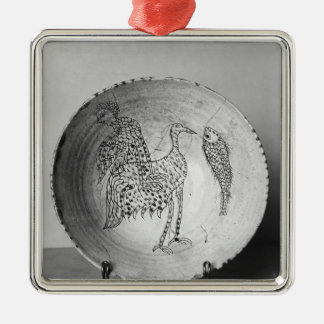 Dish decorated with birds christmas ornament