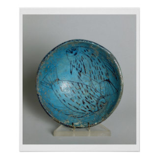 Dish decorated with fish (faience) poster