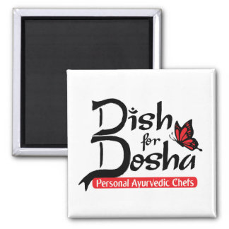 Dish for Dosha Personal Ayurvedic Chefs Square Magnet