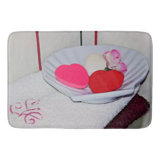 Dish of Soap and Towels Large Bath Mat Bath Mats