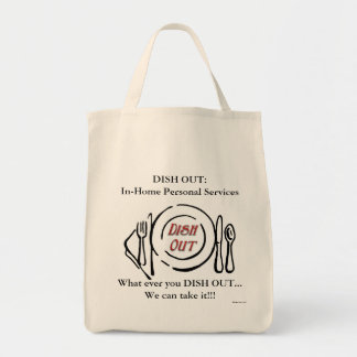 Dish Out Grocery Tote Bag