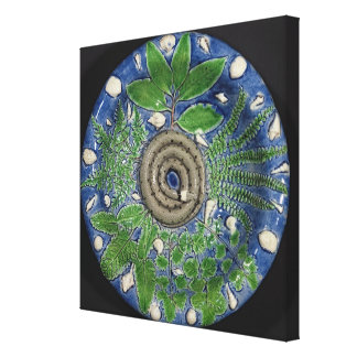 Dish, Palissy Ware Canvas Print