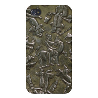 Dish relief decoration depicting goddess iPhone 4 cases