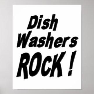 Dish Washers Rock Poster Print