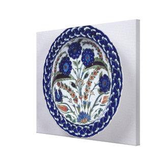 Dish with a floral decoration, Iznik Canvas Print