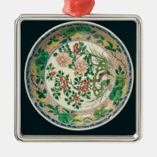 Dish with famille verte decoration