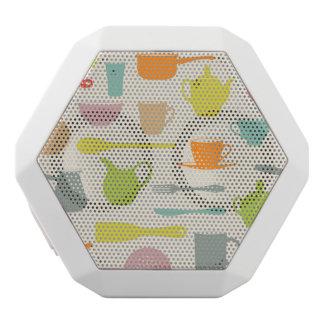 Dishes Pattern White Boombot Rex Bluetooth Speaker