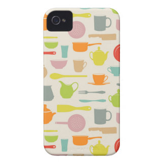 Dishes Pattern iPhone 4 Case