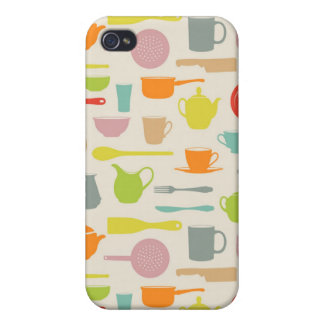 Dishes Pattern iPhone 4 Cases