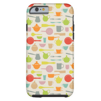 Dishes Pattern Tough iPhone 6 Case