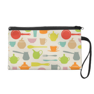 Dishes Pattern Wristlet