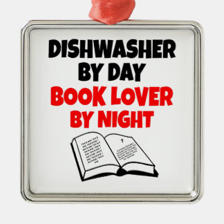 Dishwasher Book Lover Christmas Ornament