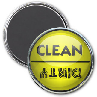 Dishwasher Clean or Dirty 7.5 Cm Round Magnet