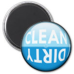 Dishwasher Clean or Dirty Sign Fridge Magnet