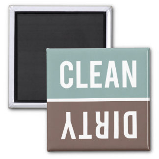 Dishwasher Magnet CLEAN | DIRTY - Blue Gray Brown