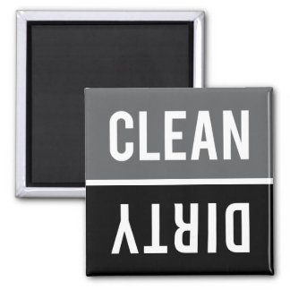 Dishwasher Magnet CLEAN | DIRTY - Gray and Black